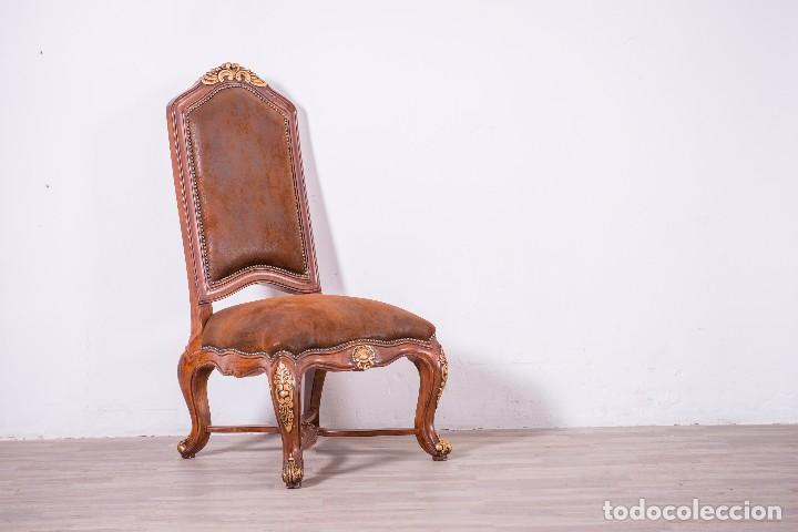Antigüedades: Antiguo juego de sillas de diseño - Foto 4 - 89172364