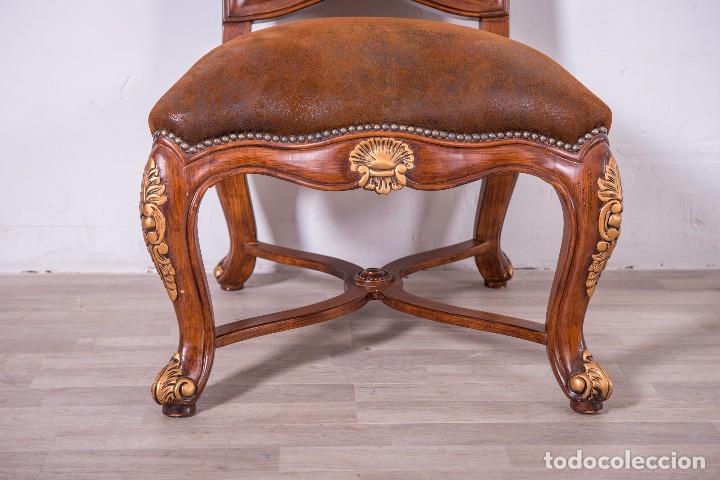 Antigüedades: Antiguo juego de sillas de diseño - Foto 5 - 89172364
