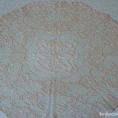 Antigüedades: ANTIGUO PAÑITO TAPETE DE CHANTILLY , OVALADO. PAÑO.. Lote 89190076