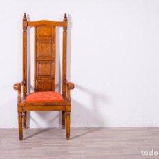 Antigüedades: ANTIGUO SILLÓN TRONO. Lote 89210356