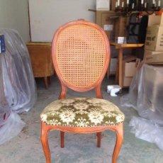 Antigüedades - Espectacular silla Ardeco de rejilla. - 88358512