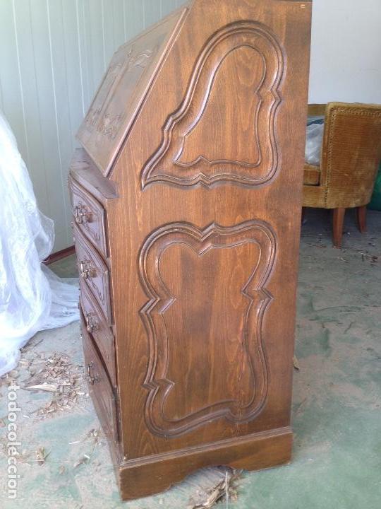 Antigüedades: Antiguo escritorio, canterano, Buró. Madera de Haya - Foto 7 - 88357420