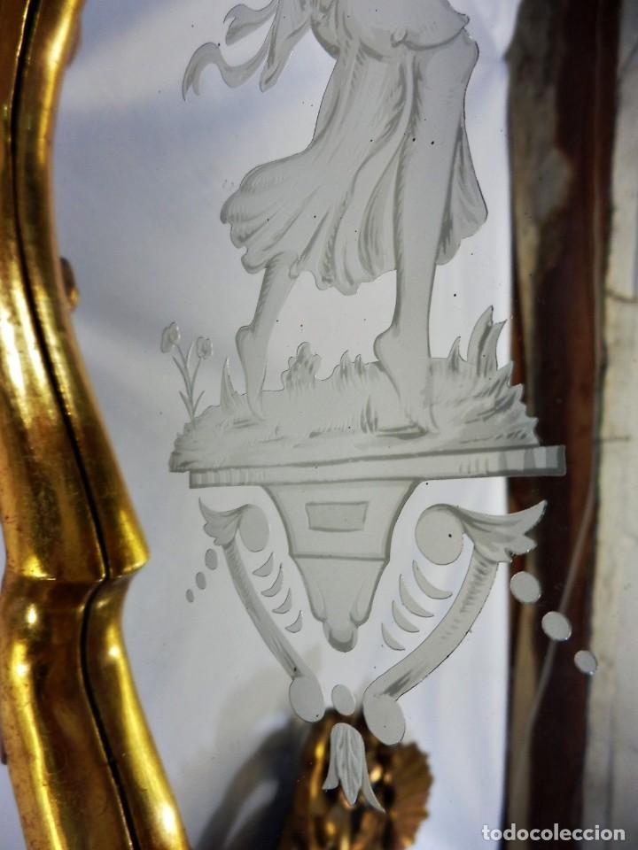 Antigüedades: Cornucopias pps SXIX - Pan de oro y escenas grabadas al ácido. La Granja - Foto 12 - 89283068
