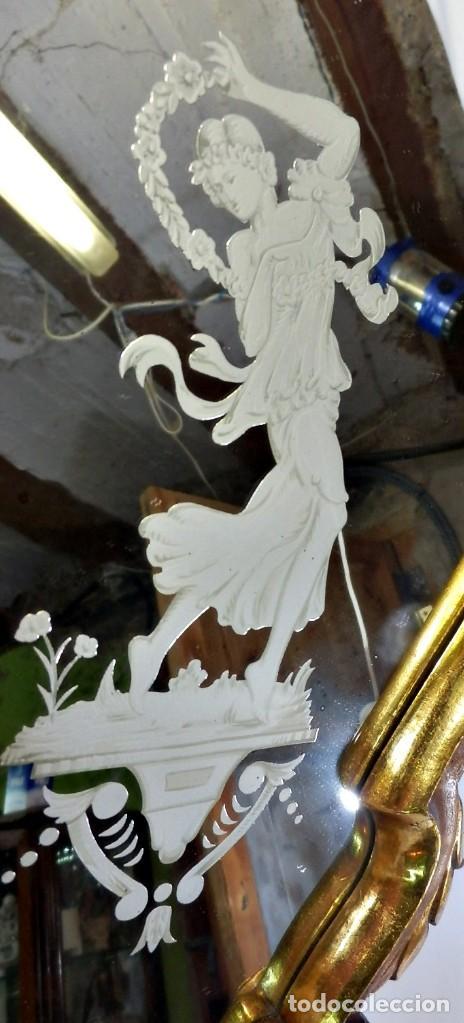 Antigüedades: Cornucopias pps SXIX - Pan de oro y escenas grabadas al ácido. La Granja - Foto 24 - 89283068