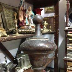 Antigüedades: ANTIGUA PERILLA REMATE DE MADERA PARA MUEBLE - CAPILLA - HORNACINA - MEDIDA TOTAL 23 - SOLO REMATE17. Lote 89297312