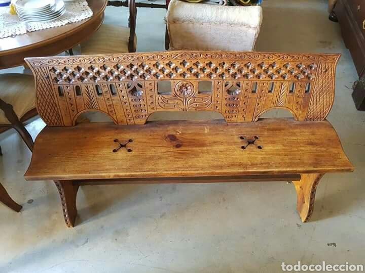 Muebles Antiguos Tallados En Madera : Banco tallado de madera maciza comprar sillones antiguos