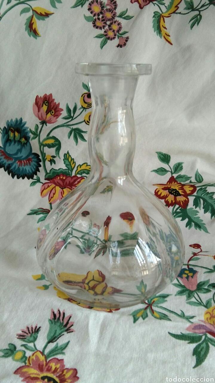 Antigüedades: Botella cristal lobulado trabajado a mano de Santa Lucia Cartagena 15,5 cm - Foto 6 - 89335071