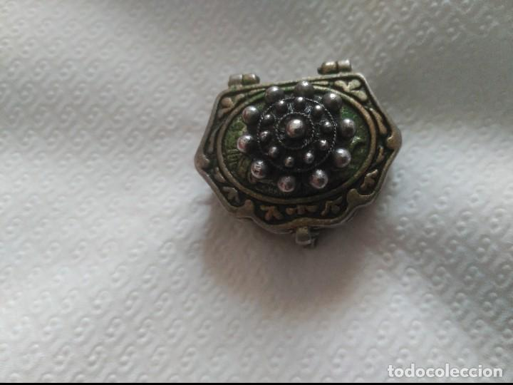 Antigüedades: antiguo pastillero en plata maciza - Foto 2 - 89342292
