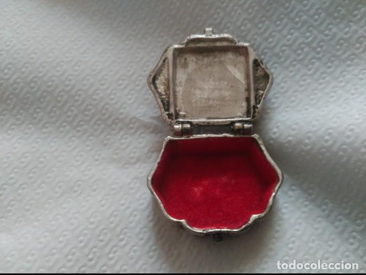Antigüedades: antiguo pastillero en plata maciza - Foto 5 - 89342292