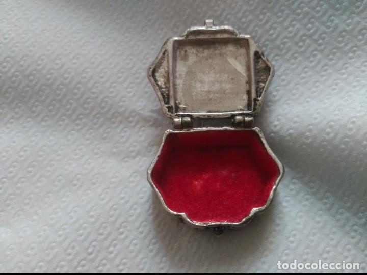 Antigüedades: antiguo pastillero en plata maciza - Foto 6 - 89342292