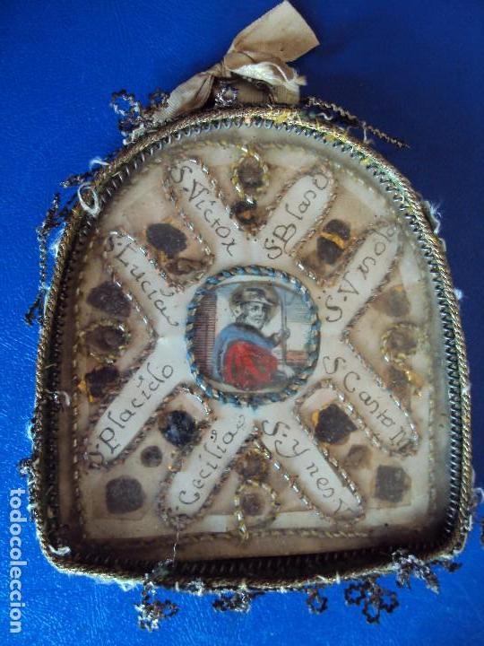 (NA-170613)ANTIGUO RELICARIO CON MUCHAS RELIQUIAS (Antigüedades - Religiosas - Relicarios y Custodias)