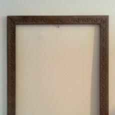 Antigüedades - Marco vasco pais vasco Euskadi 1940 madera teñida talla geometrica 45,5 x53 - 89351016