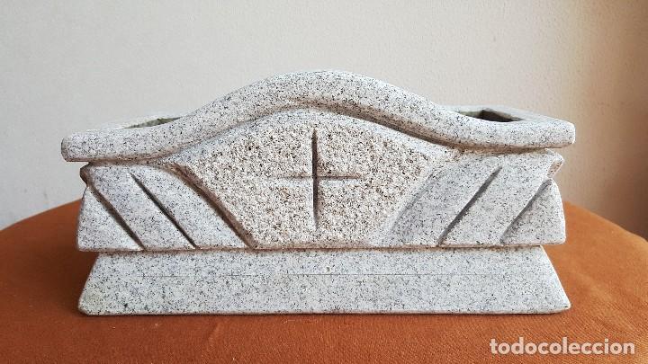 JARDINERA DE GRANITO. MACETERO PIEDRA. (Antigüedades - Hogar y Decoración - Jardineras Antiguas)