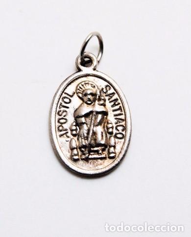 BONITA MEDALLA DEL APOSTOL SANTIAGO DE COMPOSTELA (Antigüedades - Religiosas - Medallas Antiguas)