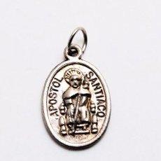 Antigüedades: BONITA MEDALLA DEL APOSTOL SANTIAGO DE COMPOSTELA. Lote 89366036