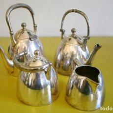 Antigüedades: JUEGO DE TÉ Y CAFÉ - PLATA INGLESA - ART DECÓ. Lote 89376148