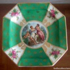 Antigüedades: PLATO DECORATIVO DE PORCELANA DE SAN CLAUDIO REF. 672. Lote 89388564