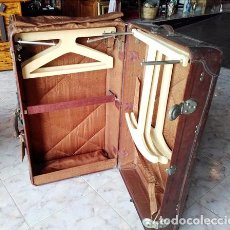 Antigüedades: MALETA BAUL DE VIAJE. Lote 54509453