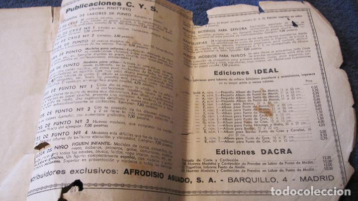 Antigüedades: Cuaderno de modelos de Punto de Cruz, nº 1, E. Del Olmo, años 40, LIBRERIA Afrodisio Aguado. - Foto 3 - 89443612