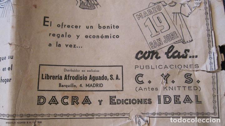 Antigüedades: Cuaderno de modelos de Punto de Cruz, nº 1, E. Del Olmo, años 40, LIBRERIA Afrodisio Aguado. - Foto 4 - 89443612