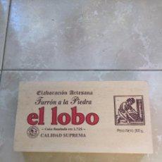 Antigüedades: CAJA DE MADERA TURRÓN A LA PIEDRA EL LOBO. ELABORACIÓN ARTESANA. Lote 89453464