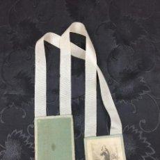Antigüedades: ANTIGUO ESCAPULARIO DEL SANTO ESCAPULARIO AZUL CELESTE. Lote 89458600