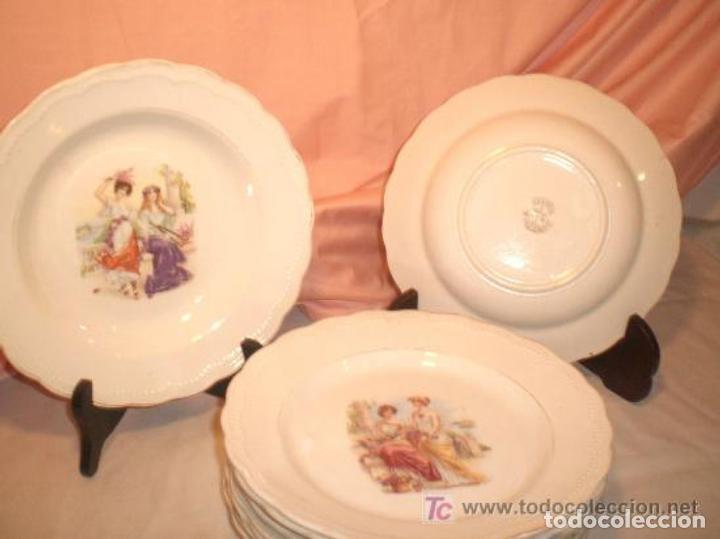 PLATOS DE LA CARTUJA DE SEVILLA. ESPAÑA. SIGLO XIX. (Antigüedades - Porcelanas y Cerámicas - La Cartuja Pickman)