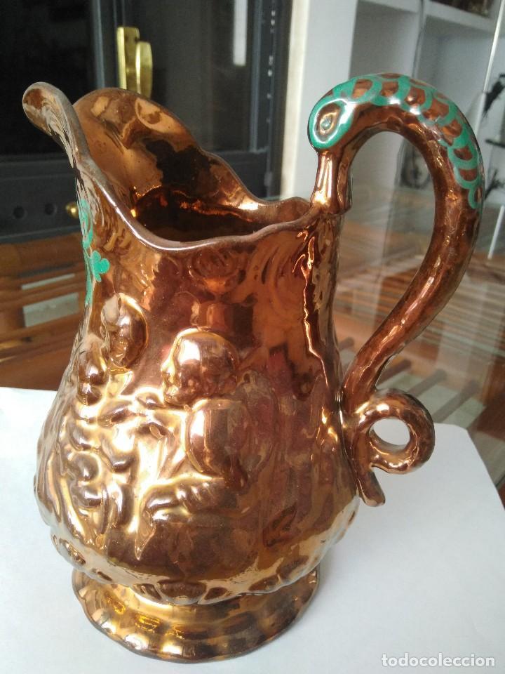 JARRA DE CERÁMICA INGLESA DE BRISTOL. 19 CM DE ALTURA. (Antigüedades - Porcelanas y Cerámicas - Inglesa, Bristol y Otros)