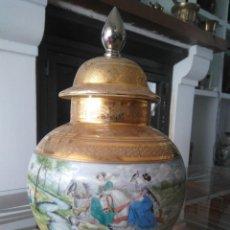 Antigüedades: ESPECTACULAR TIBOR DE PORCELANA DE BAVARIA. 36 CM DE ALTURA.. Lote 89478008