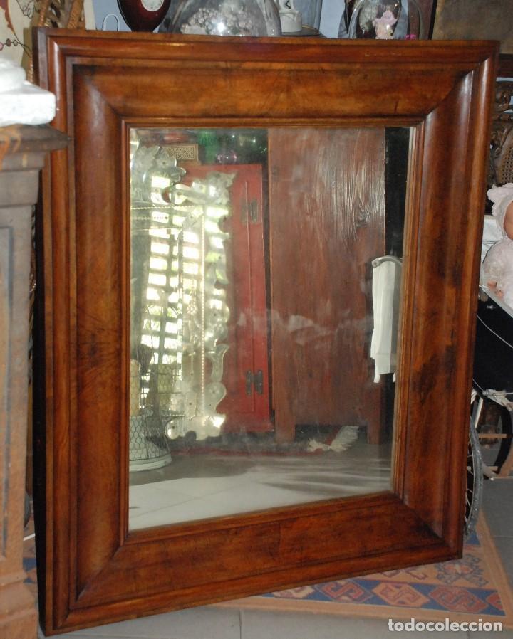 Precioso espejo antiguo de madera de caoba rubi comprar for Espejos de madera