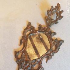 Antigüedades: ESPEJO CORNUCOPIA TALLA POLICROMADA. Lote 89532046