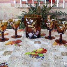 Antigüedades: ANTIGUO JUEGO DE CUBITERA Y COPAS. Lote 89542320