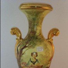 Antigüedades: JARRON LOZA VALENCIANA FIRMADO - RAMGI. Lote 89549656