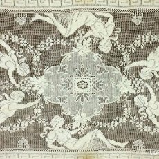 Antigüedades: BORDADO MECÁNICO SOBRE REJILLA DE ALGODÓN. ESPAÑA. ESTILO IMPERIO. SIGLO XIX. Lote 89574604