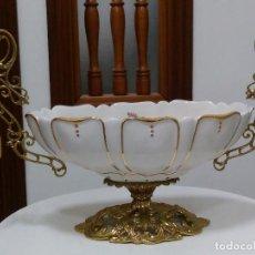Antigüedades: MAGNÍFICO CENTRO DE MESA EN PORCELANA Y BRONCE (OPORTUNIDAD) SIN ESTRENAR.. Lote 89593684