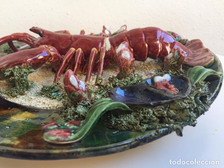 Plato antiguo langosta ceramica vidriada cerami comprar Ceramica portuguesa online