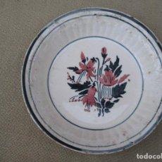 Antigüedades: PLATO ANTIGUO EN CERAMICA VIDRIADA - MURCIA - CARTAGENA.. Lote 89680436