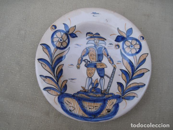 Antigüedades: PLATO EN CERAMICA VIDRIADA TRICOLOR, DE TALAVERA DE LA REINA ( TOLEDO ) - Foto 2 - 89682504