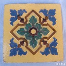 Antigüedades: ANTIGUO AZULEJO CUERDA SECA. Lote 89706616