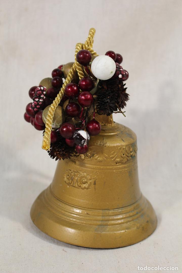 Antigüedades: campana de hierro - Foto 2 - 89709260