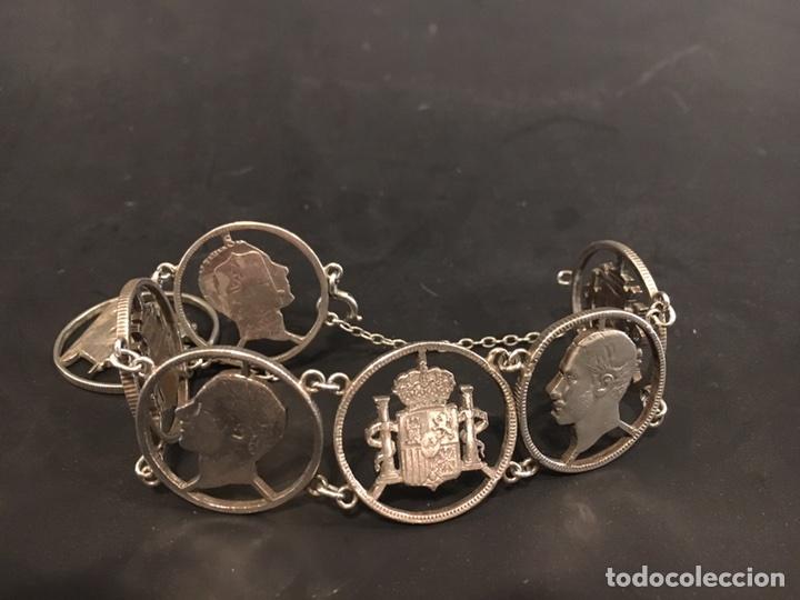 55454b3a26af Pulsera de plata realizada con monedas española - Vendido en Venta ...