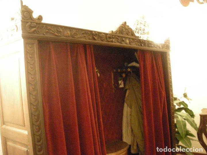 ARMARIO ROPERO ENTRADA MADERA NOBLE (Antigüedades - Muebles Antiguos - Armarios Antiguos)