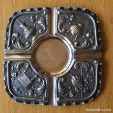 Antigüedades: CENICERO DE PLATA DE LEY. Lote 89766234