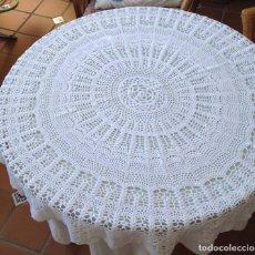 Antigüedades: TAPETE HECHO A MANO CON HILO DE ALGODÓN +40 AÑOS. Lote 89779212