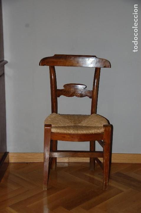 LOTE 5 SILLAS NOGAL (Antigüedades - Muebles Antiguos - Sillas Antiguas)