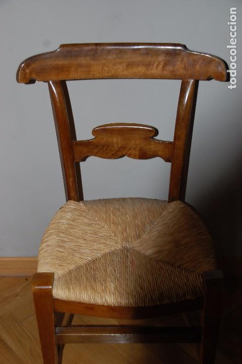 Antigüedades: lote 5 sillas nogal - Foto 2 - 89789068