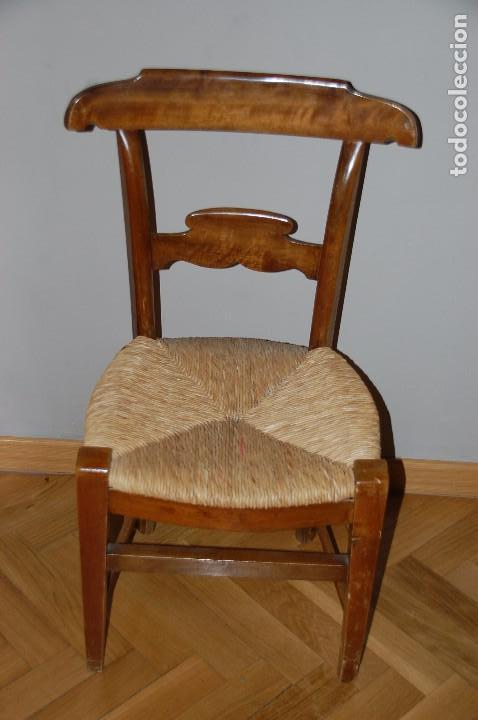 Antigüedades: lote 5 sillas nogal - Foto 3 - 89789068