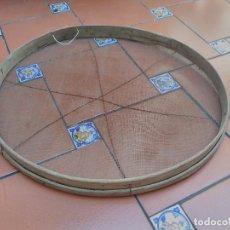 Antigüedades: TAMIZ CRIBA CEDAZO ANTIGUO REDONDO. Lote 89832032