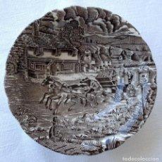 Antigüedades: PLATO HONDO 14CM DIÁMETRO CERÁMICA ANTIGUA PONTESA. Lote 89842808