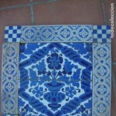Antigüedades: COMPOSICION DE AZULEJOS RAMOS REJANO. Lote 89866416